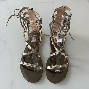 Valentino Rockstud Lace Up Gladiator Sandals EU 40